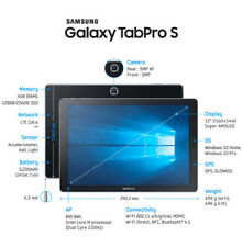 Samsung Galaxy TabPro S Windows 10 Pro 128GB Storage