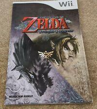 The Legend of Zelda Twilight Princess Spare Manual Only Nintendo Wii VGC