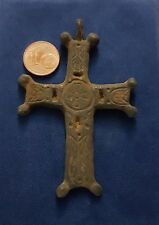 GREAT CRUCIFIX RELIGIOUS OF BRONZE 7 x 5 centimeters VERY OLD