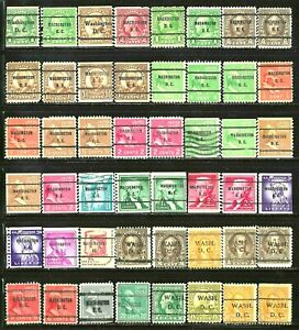 WASHINGTON D.C. Precancel Stamps Lot of 48