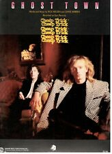"""CHEAP TRICK """"GHOST TOWN"""" SHEET MUSIC-PIANO/VOCAL/GUITAR/CHORDS-1988-NEW ON SALE!"""