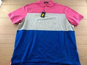 Daniel Cremieux Classics Collection Pink Soft Cotton Golf Polo Mens Size XL  NWT