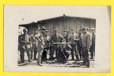 cpa Carte Photo GUERRE 14-18 Lunette d'Observation d'Artillerie Soldats Allemand