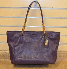 *Coach 26769 Madison Purple Pebbled Leather Tote Bag Purse Free Shipping