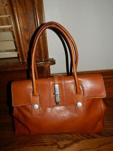 Large Vintage Brown Leather MICHAEL KORS Handbag!