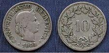 MONETA COIN MONNAIE HELVETIA SUISSE SWITZERLAND SVIZZERA - 10 RAPPEN 1904 -
