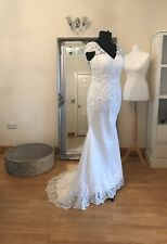 Bridal Gown/Wedding dress,Capped Sleeve, Low back, Lace, Ivory,Size 16,Brand New