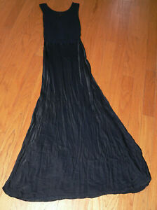 Women's Ghost London Size Small Claudia Cowl Back Navy Blue Maxi Gown