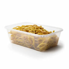 Pack of 50 650ml Plastic Satco microwavable containers Heavy duty with lids