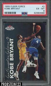 1999 Fleer Force #2 Kobe Bryant Los Angeles Lakers HOF PSA 6 EX-MT