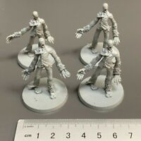 4PCS Zombies Miniatures Zombicide 2nd Edition Board Game Role-Playing Figures