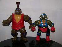 Teenage Mutant Ninja Turtles : Vintage Figure Lot : Kung Fu Don Smash Bash Leo