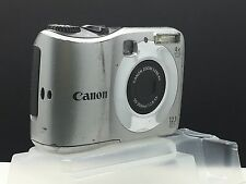 CANON A1200 Silver Mechanically Reconditioned Digital Camera-Viewfinder-AA Batt