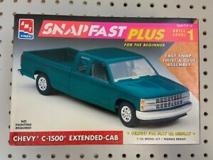 AMT ERTL 1:25 Chevy C-1500 SnapFast Plus Model Kit #8965 Open Box Complete NEW