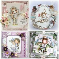 Clear Photo Album Scrapbooking Transparent Stamp Lovely Girl Silicone Rubber