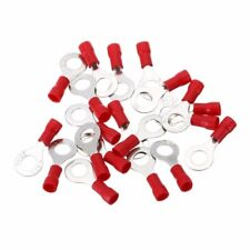 20Pcs Red Ring Insulated Wire Connector Electrical Crimp Terminal 16-22 AWG