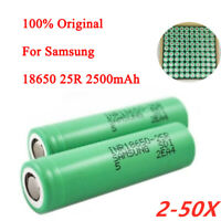 Samsung 25R 18650 Flat Top 2500mAh 20A Rechargeable Battery / Lot Quantity new