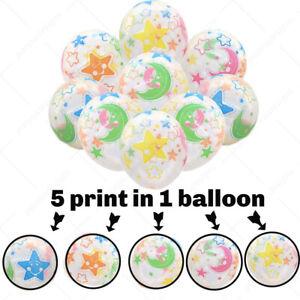 "50 X12"" Mix Moon Star printed Balloons Theme Birthday party decoration Ballons"