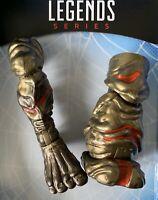 MOLTEN MAN BAF Right & Left Leg Lot Marvel Legends Scorpion Mysterio SHIPS FAST!