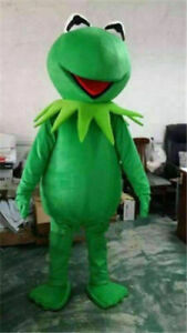 Advertising Kermit the Frog Mascot Costume suits Adults size Fancy Dress outfits