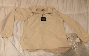 Lands End Womens Coat White Cream Size 10-12 Medium brand new
