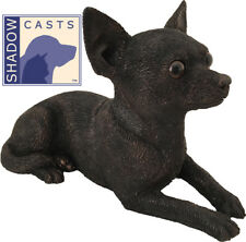 Small/Keepsake 25 Cubic Ins Chihuahua ShadowCasts Bronze Urn for Ashes