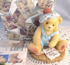 Cherished Teddies Enesco Kyle Even Though We're Far Apart Figurine Box With COA
