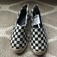 Courtly Check Espadrilles, Black White Size 7 Womens & Mackenzie Childs Napkin