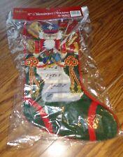 """17"""" Needlepoint Nutcracker Stocking – Brand New"""