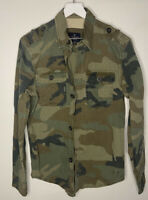 AEO American Eagle Mens Camo Camouflage Button Up Pocket Shirt Sz XL #A122