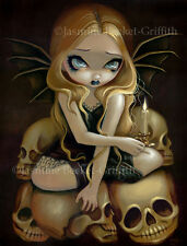 Jasmine Becket-Griffith art print SIGNED A Candle in the Dark skull fairy gothic