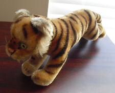 "Vintage Steiff Mohair Tiger Stuffed Animal 4 1/2"" Tall"