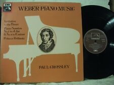 HQS 1418 WEBER Piano Music PAUL CROSSLEY HMV STEREO QUADRAPHONIC 1978 UK LP