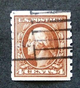 RNV081 ******  SCOTT #395,  4c  WASHINGTON,  P8 1/2V,  USED,   c1912,  CV$65