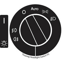 2004–2009 Volkswagen Touareg Headlight Switch Decals Repair