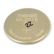 New 3V Maxell ML2016 Rechargeable Lithium CMOS RTC Battery