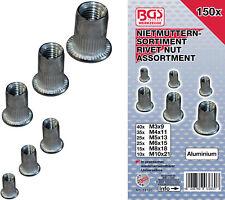 150 insert à river écrou aveugle fileté M3-M4-M5-M6-M8-M10  alu aluminium rivet