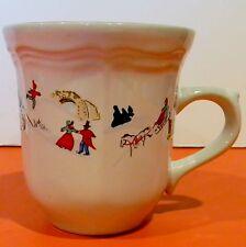 EUC Farberware White Christmas #391 China Teacup Cup Katherine Babanovsky '95