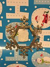Brass Snowflake Nativity Porcelain Greatest Story Christmas Ornament 1991