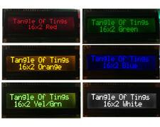 16x2 rot/orange/gelb/grün/blau/weiß hd44780 LCD Modul Arduino Pi