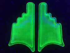 Green Vaseline glass Arrow Elevator car truck turn signal hand uranium lens set