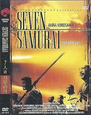 Seven Samurai (1954) Akira Kurosawa Toshirô Mifune Dvd Movie Gift New Sealed