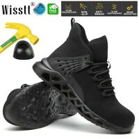 Men Steel Toe Safety Shoes Cushioned Work Boots Military Indestructible Sneakers