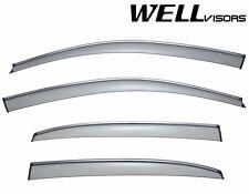 WellVisors Clip On Side Window Visors W/ Chrome Trim For 12-Up Volkswagen Passat