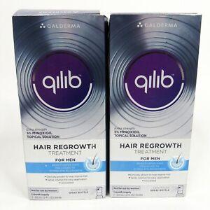 2 Pack QILIB Galderma Hair Regrowth Treatment for MEN 2 Month Supply Exp 2017