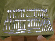 Rogers Bros x11 IS INSPIRATION CORN Silver plate flatware 55 pieces