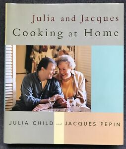 Julia and Jacques COOKING AT HOME Cookbook SIGNED BY JULIA CHILD + JACQUES PEPIN