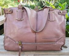 AUTHENTIC KOOBA CEMENT TAUPE TUMBLED LEATHER LARGE TOTE SHOPPER HANDBAG