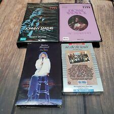 Lot of 4 BETA BETAMAX Concert Music Video Tape Johnny Mathis, Dionne Warwick ETC