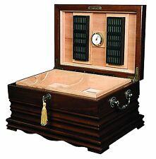 Quality Importers The Tradition Cigar Solid Wood Antique Humidor - HUM-150SW
